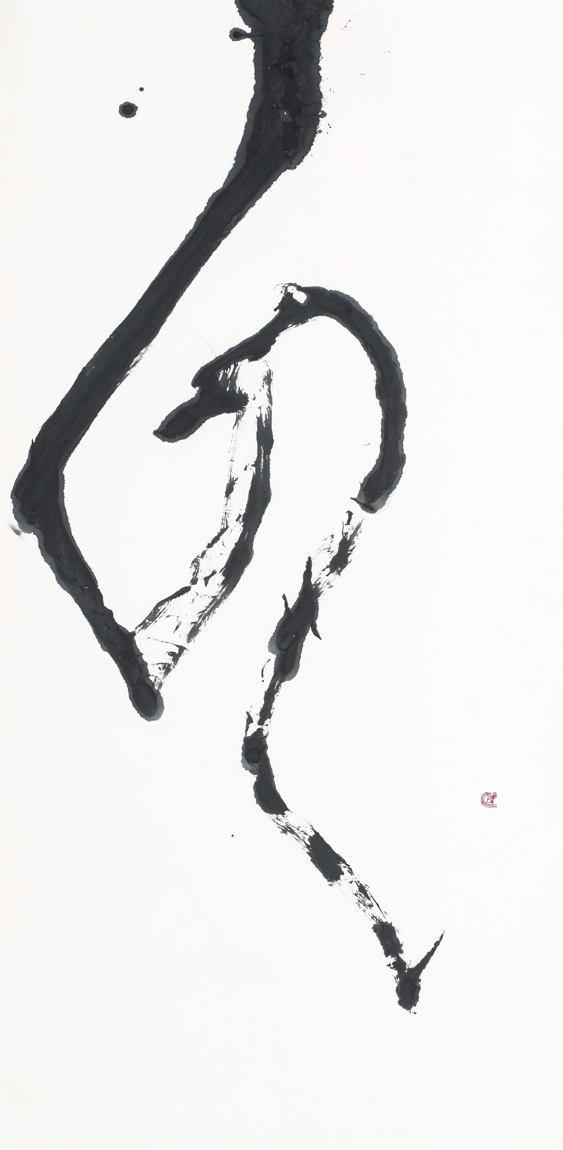 第35回記念産経国際書展出品作品「ほほえみ」(縦180センチ×横90センチ)